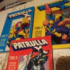 Cómics: 3 TOMOS DE LA PATRULLA X ( TOMOS 16 , 17 Y 19 ) 15 NUMEROS EN TOTAL . Lote 148020382