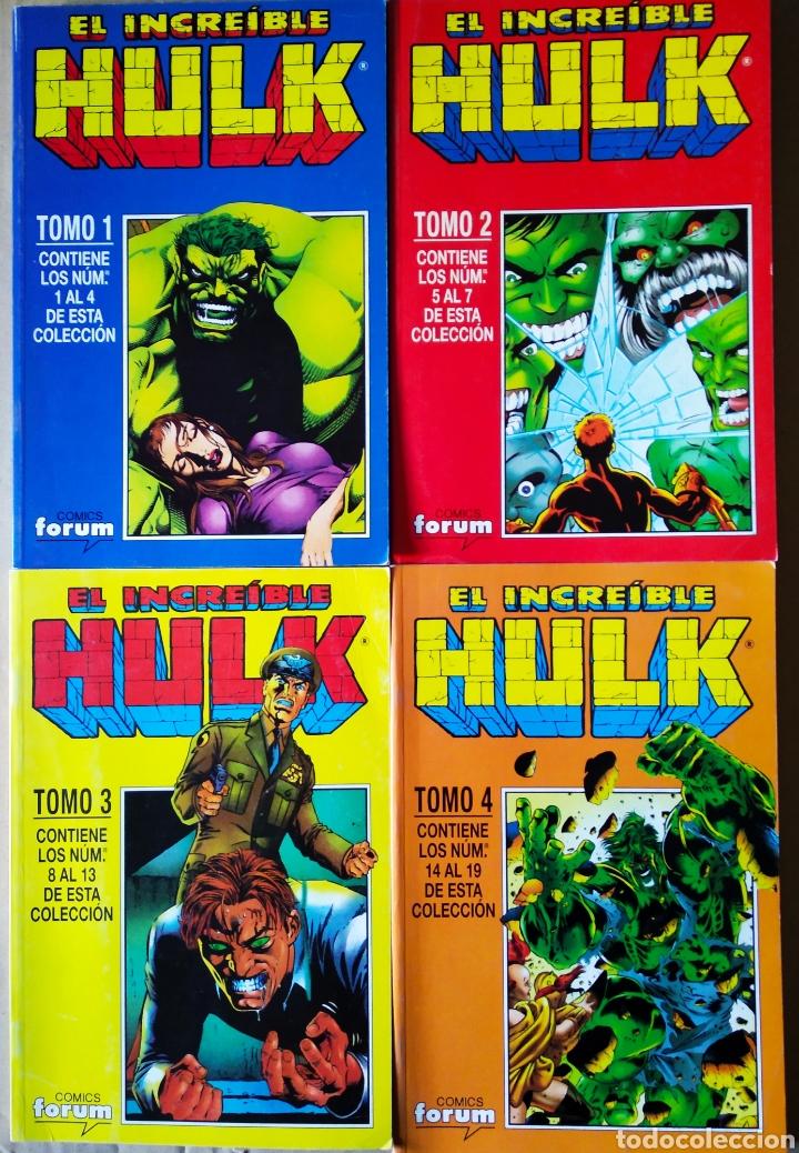 LOTE EL INCREÍBLE HULK: 1-2-3-4. NÚMEROS 1-2-3-4-5-6-7-8-9-10-11-12-13-14-15-16-17-18-19 (Tebeos y Comics - Forum - Hulk)