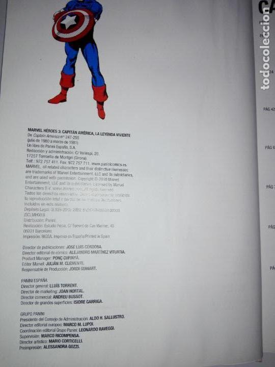 Cómics: COMIC-CAPITÁN AMÉRICA-LA LEYENDA VIVIENTE-MARVEL-PANINI-NUEVO-VER FOTOS - Foto 11 - 148503918
