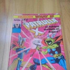 Cómics: COMIC MARVEL FORUM WHAT IF? PATRULLA X Nº 20. Lote 148694250