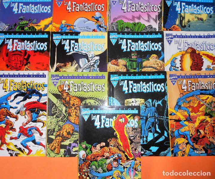 LOS 4 FANTASTICOS BIBLIOTECA MARVEL 13 PRIMEROS TOMOS - FORUM. BUEN ESTADO (Tebeos y Comics - Forum - 4 Fantásticos)