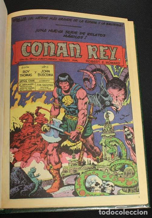 CONAN REY 1. EPISODIOS 1 AL 10. FORUM, PLANETA, AÑO 1985. ENCUADERNADO EN TOMO. (Tebeos y Comics - Forum - Conan)
