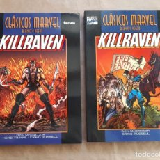 Cómics: CLÁSICOS MARVEL BLANCO Y NEGRO - KILLRAVEN 1 Y 2 COMPLETA - FORUM - JMV. Lote 150121822
