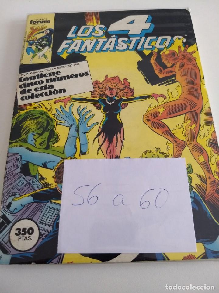 LOS 4 FANTASTICOS. VOL.1 NUMS. 56-57-58-59-60. RETAPADO (Tebeos y Comics - Forum - 4 Fantásticos)