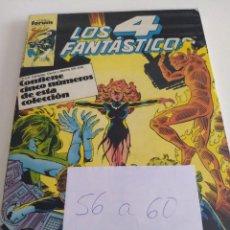 Cómics: LOS 4 FANTASTICOS. VOL.1 NUMS. 56-57-58-59-60. RETAPADO. Lote 150551558