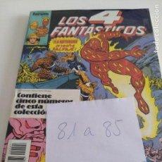 Cómics: LOS 4 FANTASTICOS. VOL.1 NUMS. 81-82-83-84-85. RETAPADO. Lote 150551626