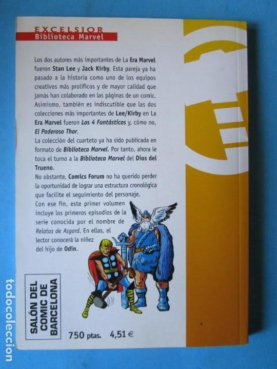 Cómics: EL PODEROSO THOR Nº 1 BIBLIOTECA MARVEL ( STAN LEE JACK KIRBY ) ¡MUY BUEN ESTADO! FORUM - Foto 3 - 150849998