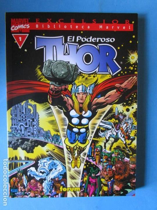 EL PODEROSO THOR Nº 1 BIBLIOTECA MARVEL ( STAN LEE JACK KIRBY ) ¡MUY BUEN ESTADO! FORUM (Tebeos y Comics - Forum - Thor)