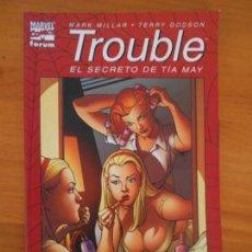 Cómics: TROUBLE - EL SECRETO DE TIA MAY - MARVEL - FORUM (C1). Lote 151355298