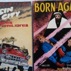 Cómics: BORN AGAIN DAREDEVIL (CON DEFECTOS) Y SIN CITY VALORES FAMILIARES- FRANK MILLER. Lote 151355598