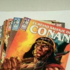 Cómics: EL REINO SALVAJE DE CONAN, 13 PRIMEROS NUMEROS. NUEVOS.. Lote 152280913