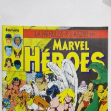 Cómics: LA PATRULLA-X Y KAZAR EN MARVEL HEROES , Nº 34, COMICS FORUM. Lote 152296654