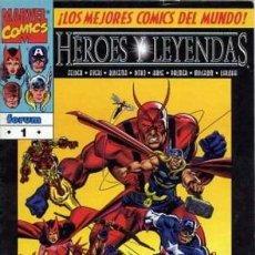 Cómics: HEROES Y LEYENDAS COMPLETA 2 NUMEROS - FORUM - BUEN ESTADO - OFSF15. Lote 152335078
