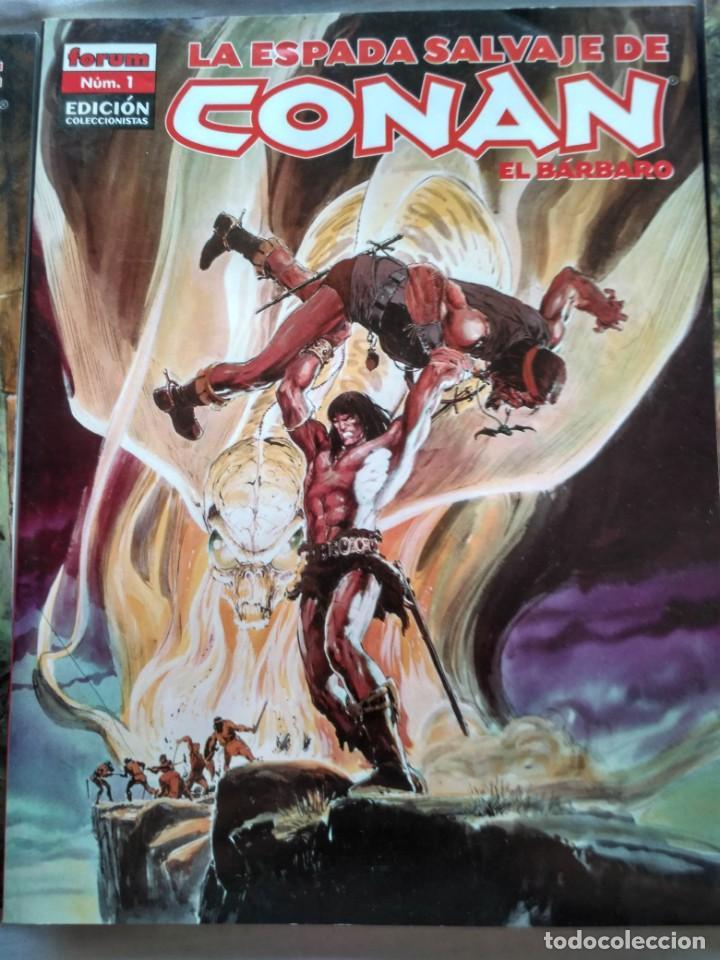 LA ESPADA SALVAJE DE CONAN EL BARBARO. Nº 1 - 2 Y 3. FORUM. 2005 (Tebeos y Comics - Forum - Conan)