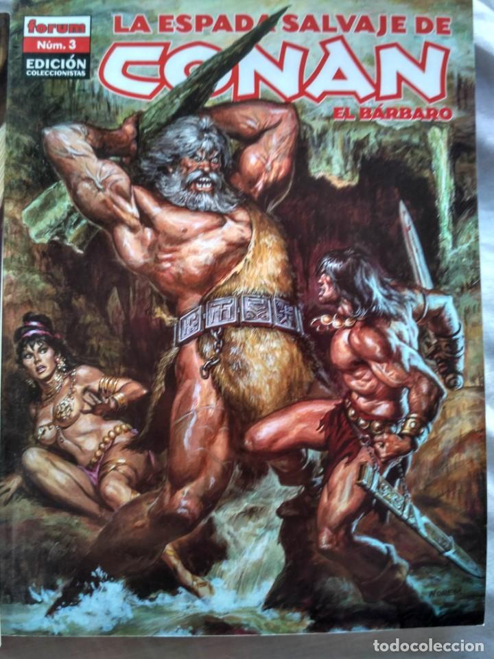 Cómics: LA ESPADA SALVAJE DE CONAN EL BARBARO. Nº 1 - 2 Y 3. Forum. 2005 - Foto 3 - 152481438