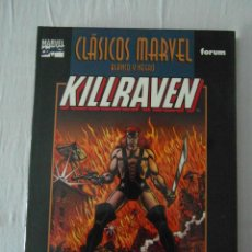 Cómics: NUEVO. KILLRAVEN Nº 1. CLASICOS MARVEL BLANCO Y NEGRO. FORUM. Lote 153114918