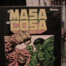 Cómics: LA MASA Y LA COSA / EL GRAN CAMBIO - STARLIN. WRIGHTSON. FORUM.. Lote 153496082