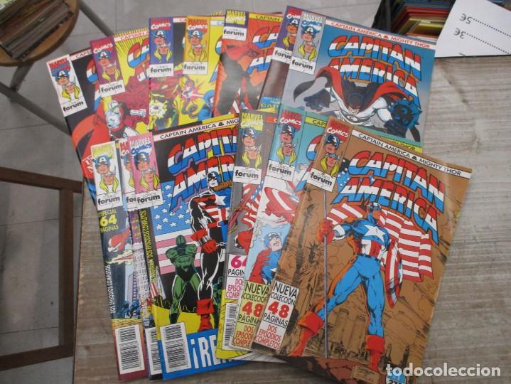 COLECCION COMPLETA CAPITAN AMERICA / THOR - 13 EJEMPLARES DOBLES - FORUM - MARVEL (Tebeos y Comics - Forum - Otros Forum)