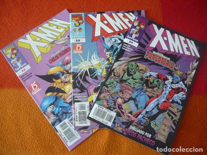 X MEN VOL. 2 NºS 32, 33 Y 34 ( KELLY PACHECO ) ¡BUEN ESTADO! MARVEL FORUM (Tebeos y Comics - Forum - X-Men)