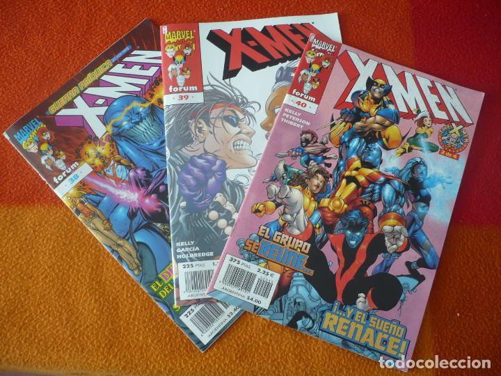 X MEN VOL. 2 NºS 38, 39 Y 40 ( KELLY GERMAN GARCIA ) ¡BUEN ESTADO! MARVEL FORUM (Tebeos y Comics - Forum - X-Men)