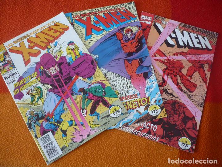 LAS NUEVAS AVENTURAS DE LOS X MEN NºS 2, 3 Y 4 ¡MUY BUEN ESTADO! MARVEL FORUM (Tebeos y Comics - Forum - X-Men)