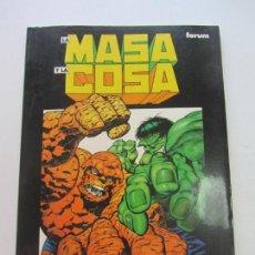 Cómics: NOVELA GRAFICA Nº13 - LA MASA Y LA COSA JIM STARLIN, BERNI WRIGHTSON FORUM CX08. Lote 154466634