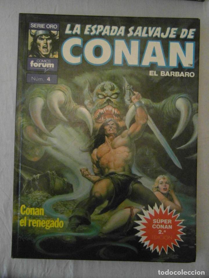 LA ESPADA SALVAJE DE CONAN EL BARBARO Nº 4. CONAN EL RENEGADO. FORUM (Tebeos y Comics - Forum - Conan)
