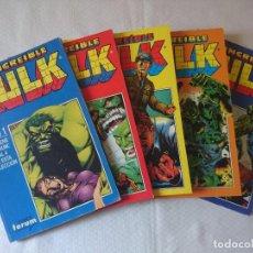 Cómics: EL INCREIBLE HULK VOLUMEN 2 EN RETAPADO COMPLETA 5 TOMOS. Lote 154675470