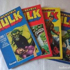 Cómics: EL INCREIBLE HULK VOLUMEN 2 EN RETAPADO 4 TOMOS CASI COMPLETA. Lote 154675874