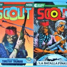 Cómics: SCOUT Nº 18 Y 19 - FORUM 1991 ''BUEN ESTADO'' (VER 2 FOTOS). Lote 224304723