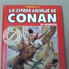 Cómics: LA ESPADA SALVAJE DE CONAN EL BARBARO TOMO 17. Lote 155348254
