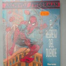 Cómics: ARCHIVOS SPIDERMAN EL REGRESO DEL DUENDE#. Lote 155559462