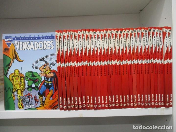 Cómics: COLECCION COMPLETA BIBLIOTECA MARVEL LOS VENGADORES - 32 NUMEROS - FORUM - Foto 2 - 155654830