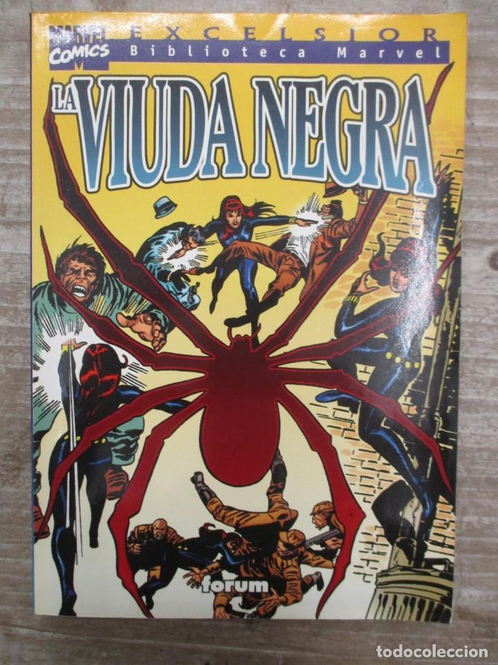 Comics: COLECCION COMPLETA BIBLIOTECA MARVEL PANTERA NEGRA Y LA VIUDA NEGRA - 2 TOMOS - FORUM - Foto 2 - 155660054