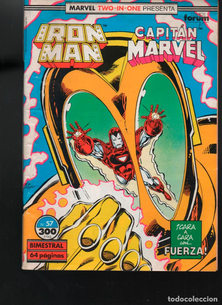 Cómics: MARVEL TWO IN ONE IRON MAN CAPITAN MARVEL Nº 57 FORUM - Foto 1 - 155673134