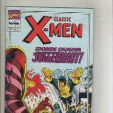 Cómics: CLASSIC X-MEN-VOL. 2-FORUM-AÑO 1994-COLOR-FORMATO GRAPA-Nº 7-DONDE CAMINA EL JUGGERNAUT. Lote 155779014