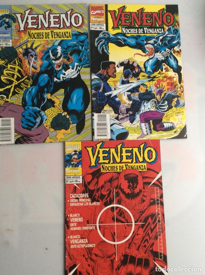 VENENO, NOCHES DE VENGANZA, LOTE DE 3 EJEMPLARES Nº 1, 2, 4, (Tebeos y Comics - Forum - Spiderman)