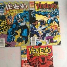 Cómics: VENENO, NOCHES DE VENGANZA, LOTE DE 3 EJEMPLARES Nº 1, 2, 4,. Lote 155859390