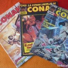 Cómics: LA ESPADA SALVAJE DE CONAN NºS 67, 68 Y 69 SERIE ORO 1ª EDICION ¡BUEN ESTADO! FORUM MARVEL. Lote 155898890