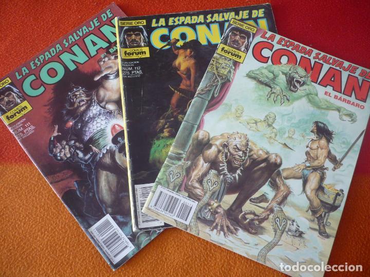 LA ESPADA SALVAJE DE CONAN NºS 111, 112 Y 113 SERIE ORO 1ª EDICION FORUM MARVEL (Tebeos y Comics - Forum - Conan)