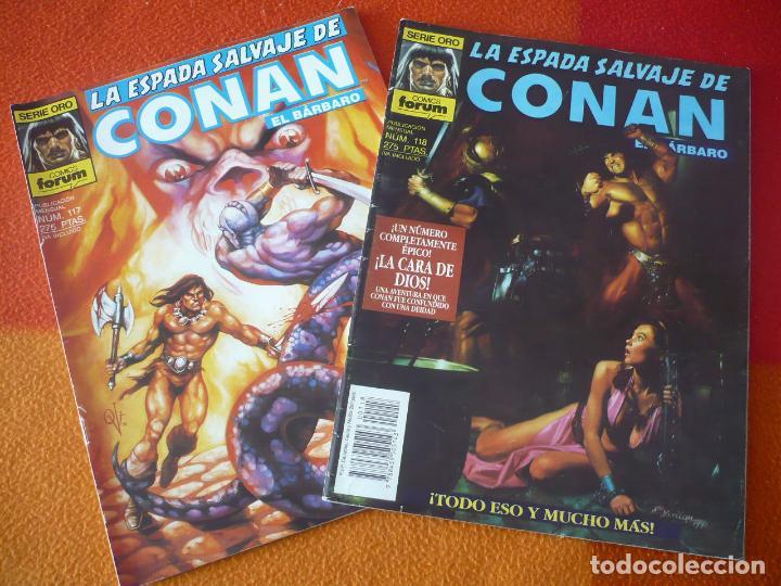 LA ESPADA SALVAJE DE CONAN NºS 117 Y 118 SERIE ORO 1ª EDICION ¡BUEN ESTADO! FORUM MARVEL (Tebeos y Comics - Forum - Conan)