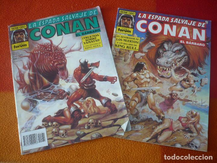 LA ESPADA SALVAJE DE CONAN NºS 131 Y 132 SERIE ORO 1ª EDICION ¡BUEN ESTADO! FORUM MARVEL (Tebeos y Comics - Forum - Conan)