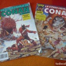 Cómics: LA ESPADA SALVAJE DE CONAN NºS 131 Y 132 SERIE ORO 1ª EDICION ¡BUEN ESTADO! FORUM MARVEL. Lote 155916902