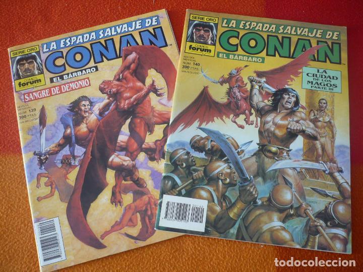 LA ESPADA SALVAJE DE CONAN NºS 139 Y 140 SERIE ORO 1ª EDICION ¡BUEN ESTADO! FORUM MARVEL (Tebeos y Comics - Forum - Conan)