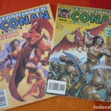 Cómics: LA ESPADA SALVAJE DE CONAN NºS 139 Y 140 SERIE ORO 1ª EDICION ¡BUEN ESTADO! FORUM MARVEL. Lote 155917194