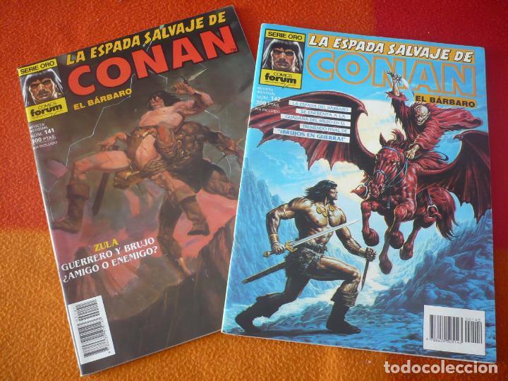 LA ESPADA SALVAJE DE CONAN NºS 141 Y 142 SERIE ORO 1ª EDICION ¡BUEN ESTADO! FORUM MARVEL (Tebeos y Comics - Forum - Conan)