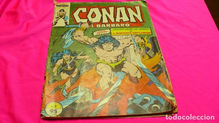 CONAN EL BARBARO Nº.7, MUERTE ENTRE LAS RUINAS Y LA SERPIENTE EMPLUMADA, DEL 1983. (Tebeos y Comics - Forum - Conan)