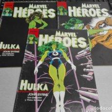 Cómics: MARVEL HÉROES Nº 36, 37, 38 HULKA / JOHN BYRNE / COMPLETO / FORUM. Lote 155970170