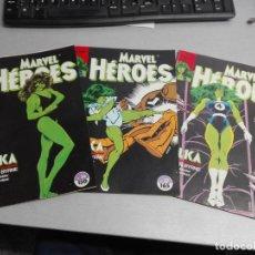 Cómics: MARVEL HÉROES Nº 36, 37, 38 HULKA / JOHN BYRNE / COMPLETO / FORUM. Lote 155970994