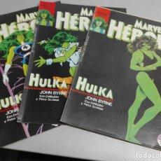 Cómics: MARVEL HÉROES Nº 36, 37, 38 HULKA / JOHN BYRNE / COMPLETO / FORUM. Lote 155971038